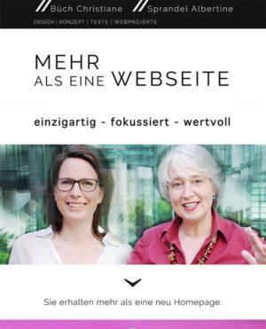 Christiane Büch und Tine Sprandel alias webprintdesign.storykom.de